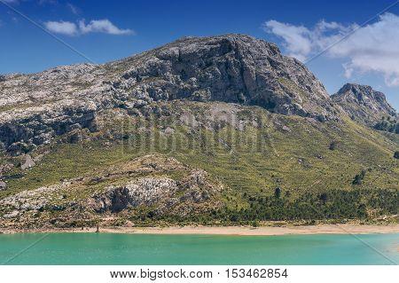 The artificial-scale Cuber reservoir in the Sierra de Tramuntana Mallorca Spain