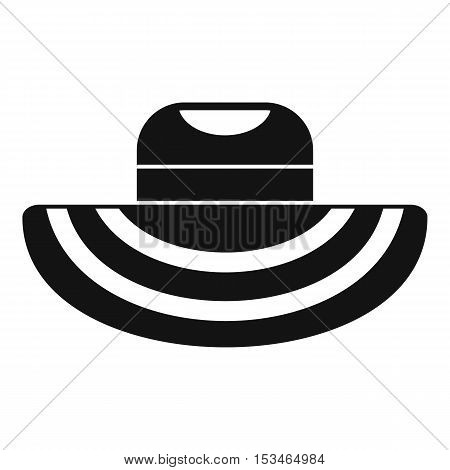 Women beach hat icon. Simple illustration of women beach hat vector icon for web