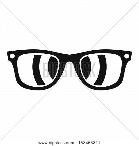 Sunglasses icon. Simple illustration of sunglasses vector icon for web