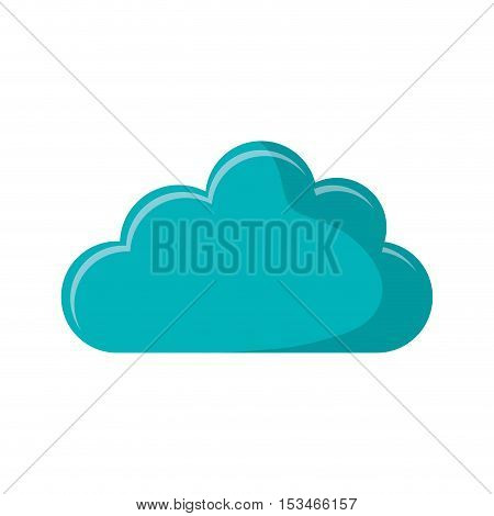 Cloud icon. Weather sky and nature theme. Isolated design. Vector illustration
