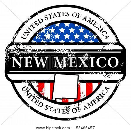 Grunge rubber stamp with name of New Mexico, vector illustration