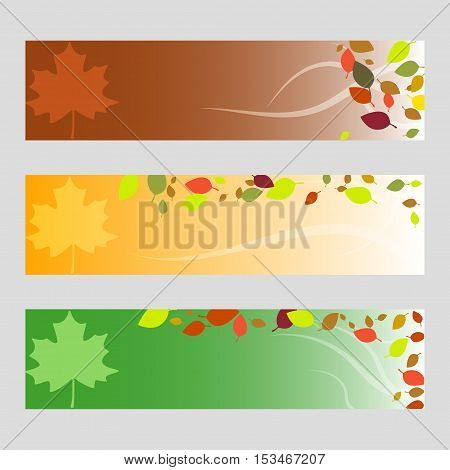 Happy Thanksgiving Day. Three Thanksgiving Banners.