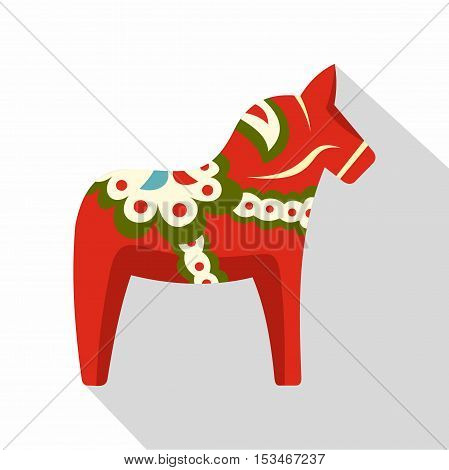 Toy horse icon. Flat illustration of toy horse icon for web