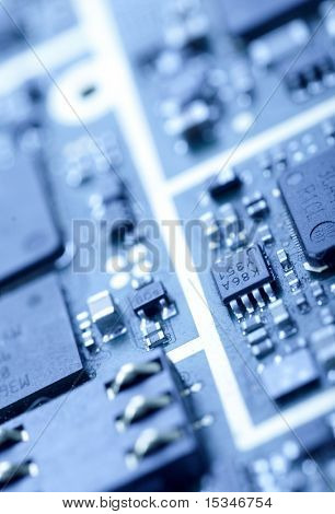 Close-up photo of mainboard