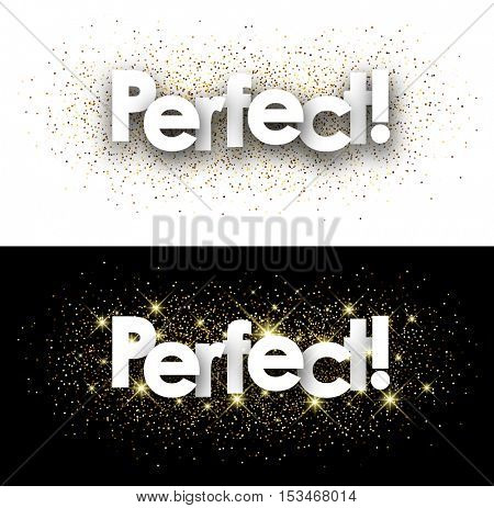 Perfect paper banner with shining sand. Vector illustration.