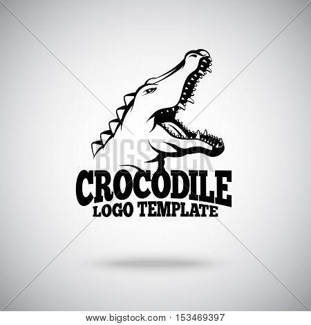 Vector Crocodile logo template for sport teams, brands etc.
