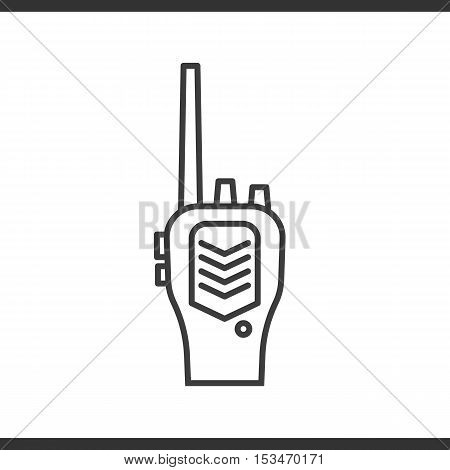 Radio transceiver linear icon. Thin line illustration. Vector isolated outline drawing