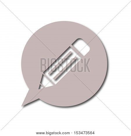 Simple Vector Blog icon on white background