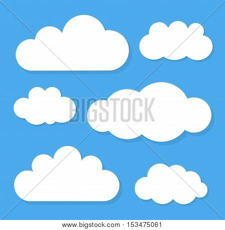 Clouds on blue sky. Background with copy space illustration