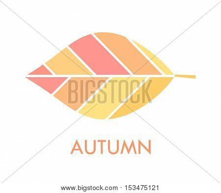 Autumn leaf icon or logo simple illustration