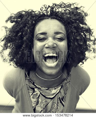 African Descent Teen Girl Smiling Portrait Concept