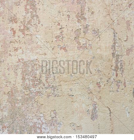 Colourful old wall. Old painted concrete wall background.