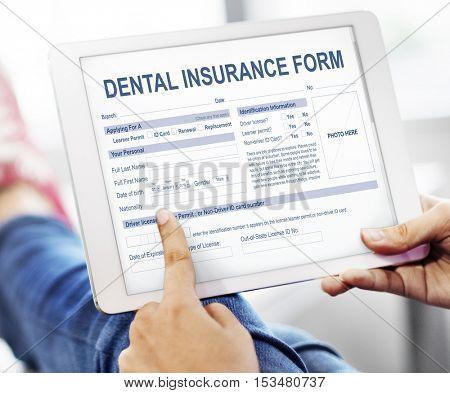 Dental Insurance Form Dentist Concept