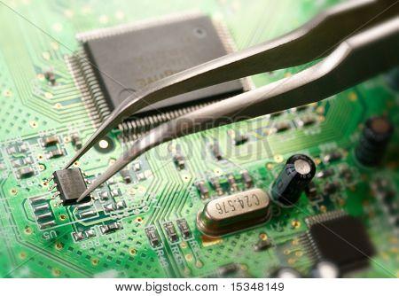 Montaje de un circuito impreso
