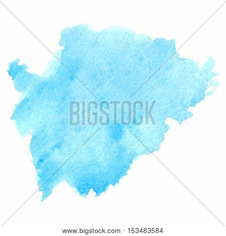 Splash watercolor blot vector pattern on white. Texture for banners. Background for logo and text.