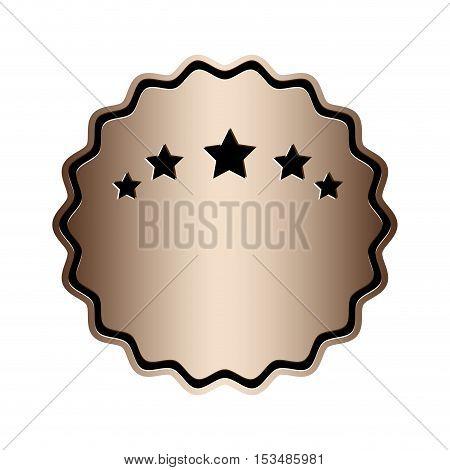 luxury ombre emblem or label icon image vector illustration design