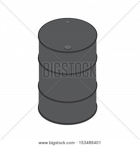 Barrel icon gray vector isometric illustration of isolated on a white background