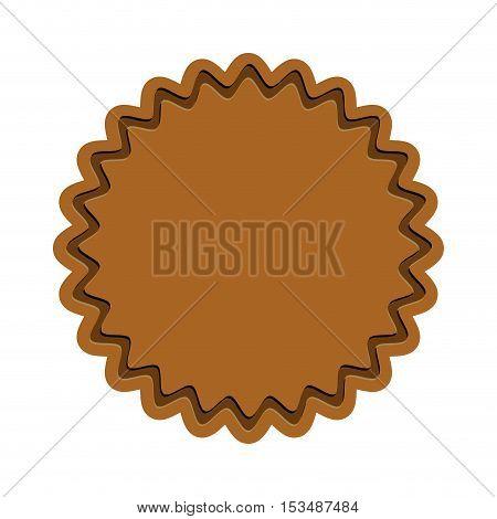 brown starry emblem or label icon image vector illustration design