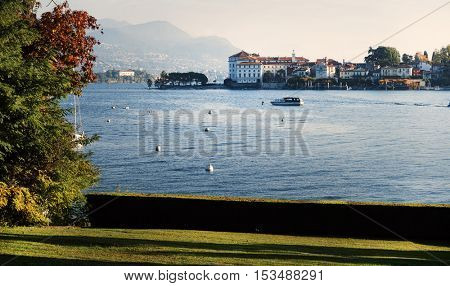 View of  Lake Maggiore, Italy, Europe