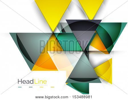 Vector 3d geometric abstract background, triangle template
