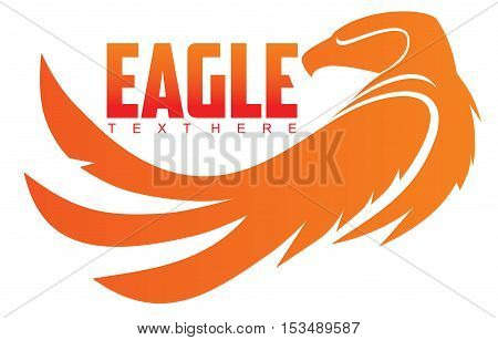 simple image of an eagle vector emblem