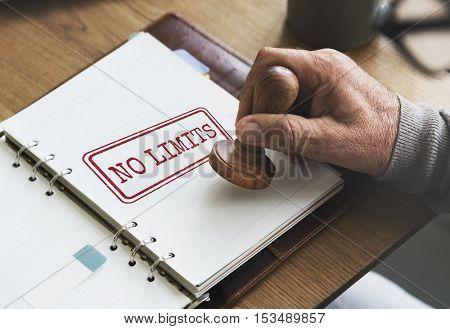 No Limits Positive Explore Free Inspire Motivation Concept