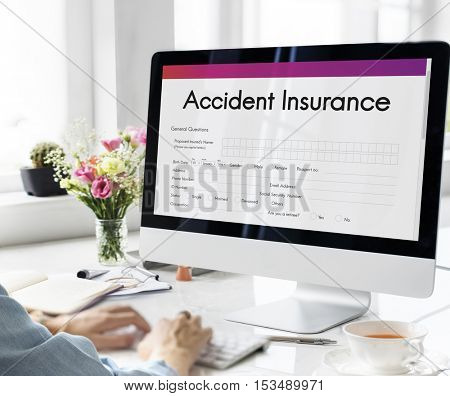 Accident Insurance Safety Form Concept