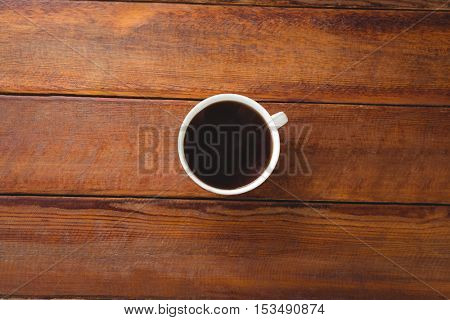Black coffee on a table in cafeteria