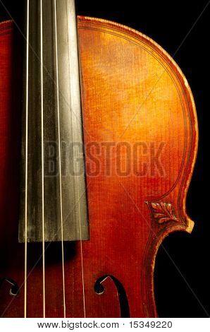 Fragment of violin