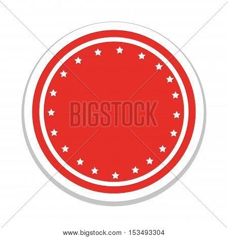 red emblem or label icon image vector illustration design