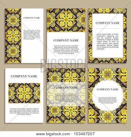 Set Of Design Cards For Business