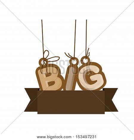 big letters emblem or label icon image vector illustration design