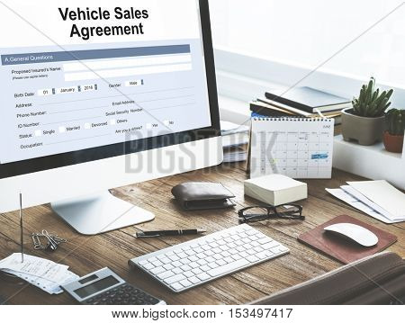 Vehicle Sales Agreement Form Concept