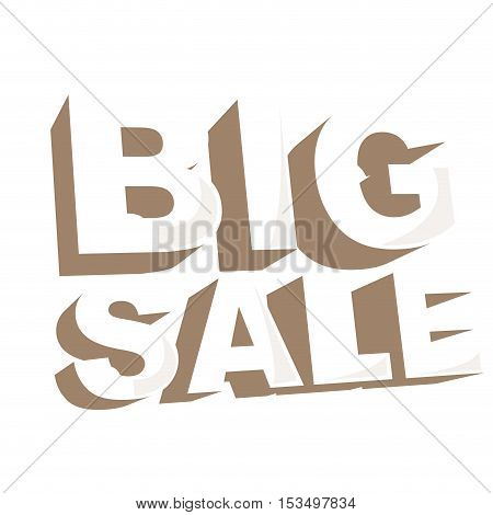 big sale letters image vector illustration design