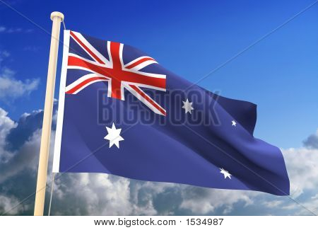 Australia Flag (Clipping Path)