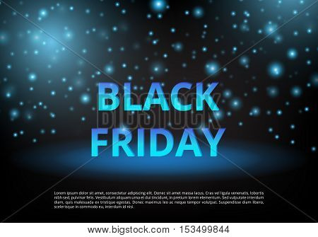Banner Black Friday. Special offer. Template ad. Shopping online. Holiday discounts. Christmas sale. Personal proposal. Vector illustration