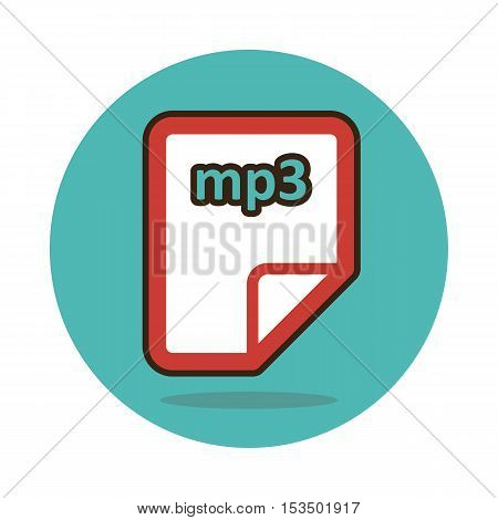 mp3 file icon vector illustration eps 10