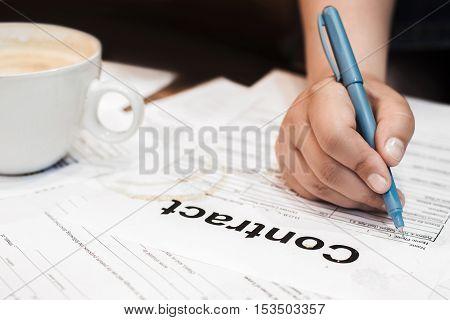 Contract Business Deal Bureaucracy Work Agreement Mess Concept