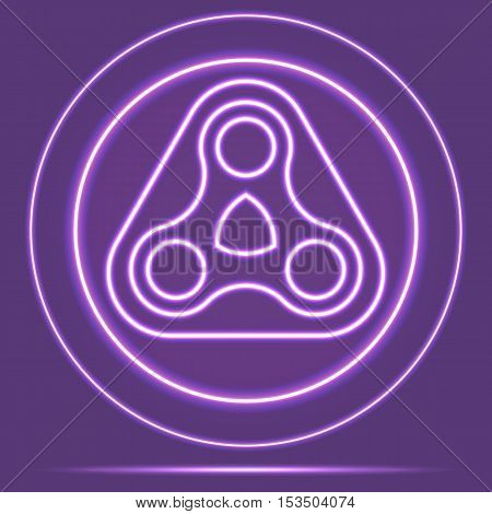 Futuristic Neon Glowing Logo Icon Sensor style. Vector EPS 10