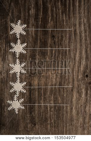 Empty list of New Year resolutions on rustic wooden background