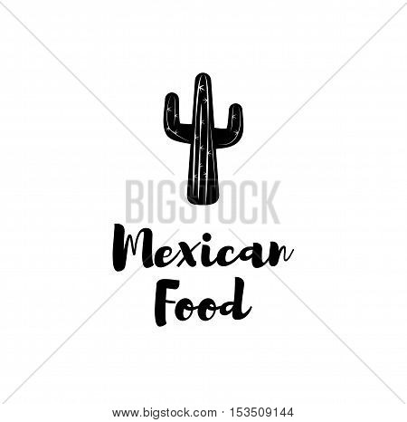 Mexican Food Cactus. Isolated On White Background. Vector Illustration