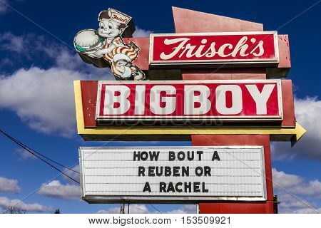 Anderson - Circa October 2016: Frisch's Big Boy restaurant home of the Big Boy Hamburger I