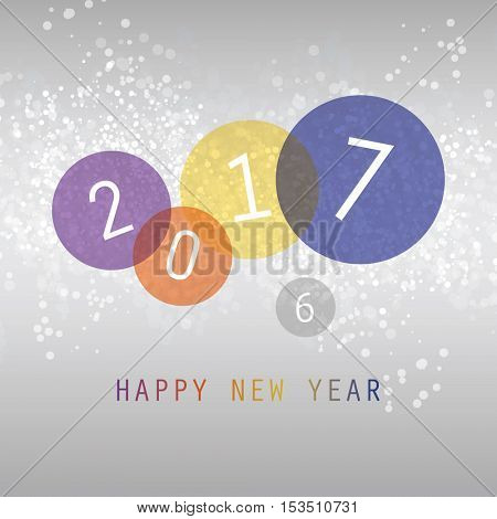 Best Wishes - Simple Colorful Abstract Modern Style Happy New Year Greeting Card, Cover or Background, Creative Design Template - 2017