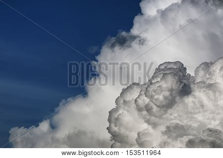 wonderful natural landscape heaven clouds on a summer day