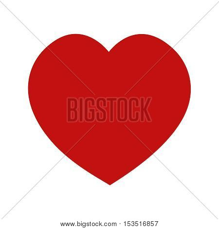 Red heart icon symbol of love health