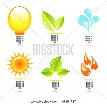 Nature in electricity. Icons