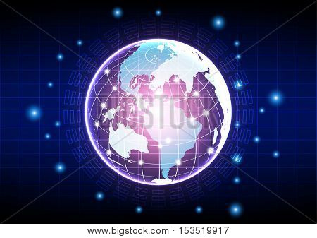 vector digital global technology concept abstract background