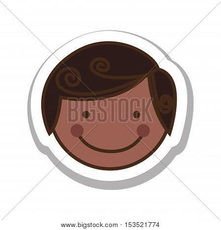 boy happy child face icon image vector illustration design