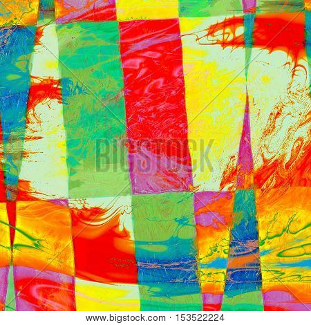 Geometric stylish grunge texture, old damaged background. With different color patterns: yellow (beige); green; blue; red (orange); pink; white