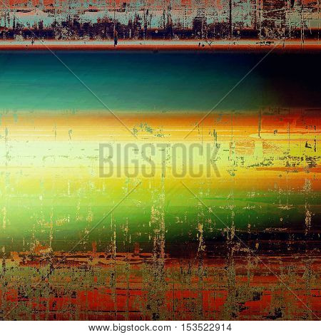 Old abstract texture used as shabby grungy background. With different color patterns: yellow (beige); brown; green; blue; red (orange); black